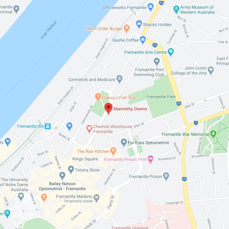 Abernethy Owens Fremantle Map Location