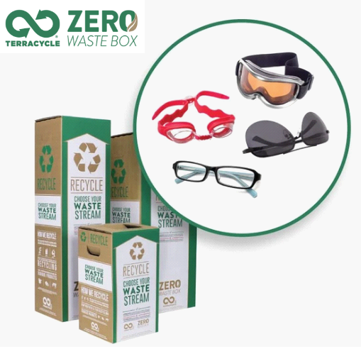 WA First  Recycling of spectacle lenses and frames