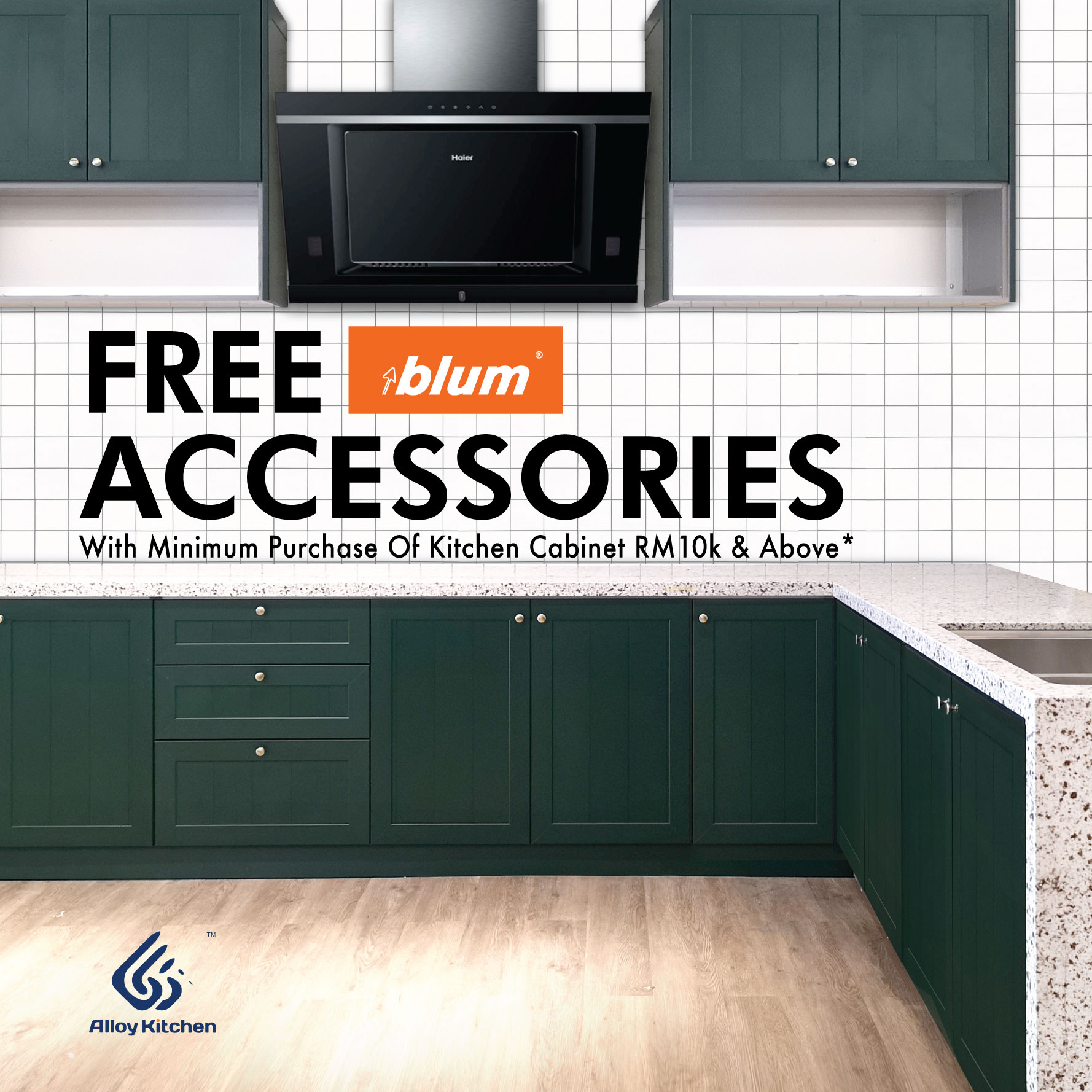 Promotion Ended Alloy Kitchen Free Blum Accessories