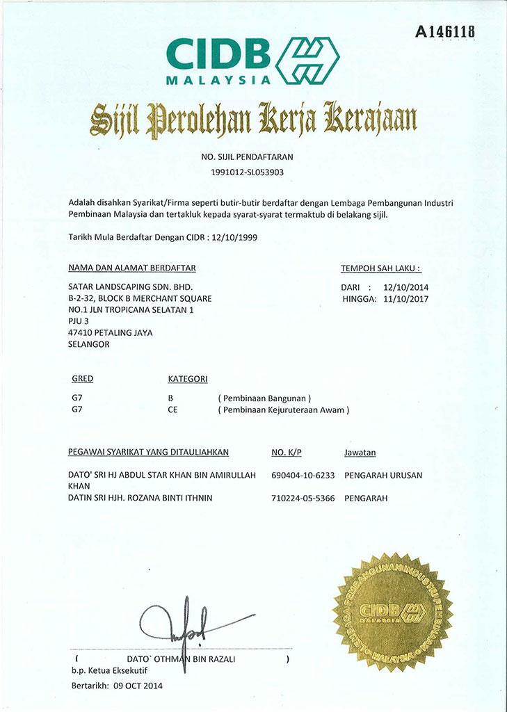 Satar Landscaping Sdn Bhd